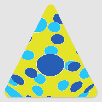 Psychedelic-Style Triangle Sticker