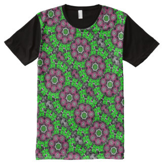 Psychedelic tee-shirt Fractal Kaleidoscope All-Over Print T-Shirt