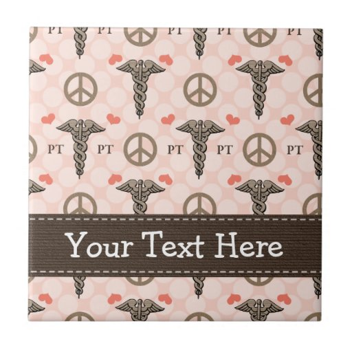 PT Physical Therapist Caduceus Ceramic Tile Trivet