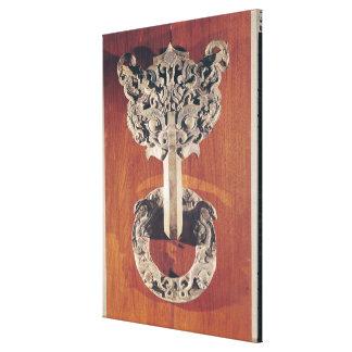 P'u shou' door knocker with a taotie design canvas print