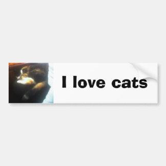 Pub Cat, I love cats Car Bumper Sticker