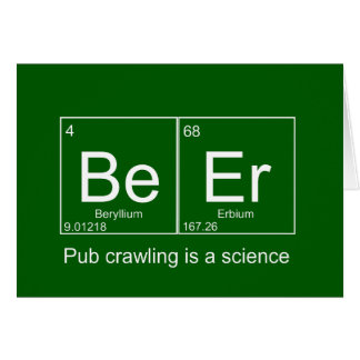 Pub Crawling is a Science customizable Beer card