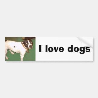 Pub Dog 1, I love dogs Car Bumper Sticker