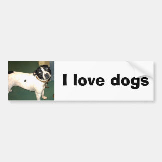 Pub Dog 2 copy, I love dogs Car Bumper Sticker