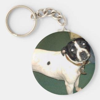 Pub Dog Basic Round Button Key Ring