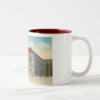 Public Library, Boston 1911 Vintage Two-Tone Coffee Mug