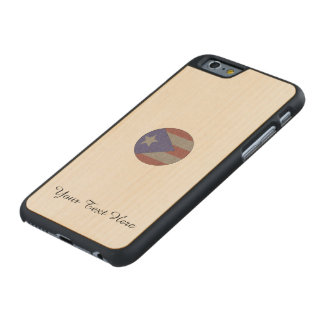 Puerto Rican Flag Carved Maple iPhone 6 Case