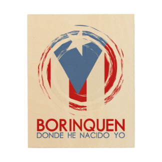 Puerto Rico Borinquen Wood Canvas