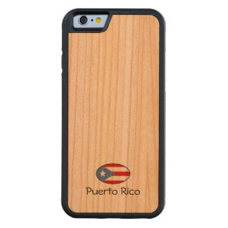 Puerto Rico Custom Carved Cherry iPhone 6 Bumper Case