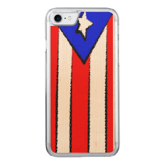 Puerto Rico Flag Carved iPhone 8/7 Case