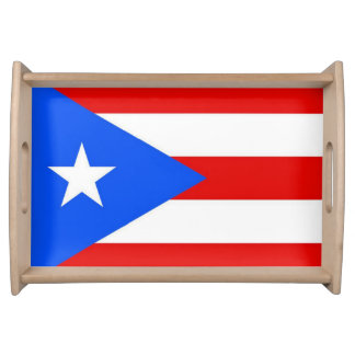 Puerto Rico Flag Serving Tray