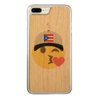 Puerto Rico Hat Kiss Emoji Carved iPhone 8 Plus/7 Plus Case