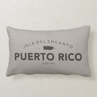 Puerto Rico Map Lumbar Cushion