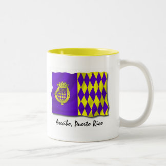 Puerto Rico Mug: Arecibo Two-Tone Coffee Mug