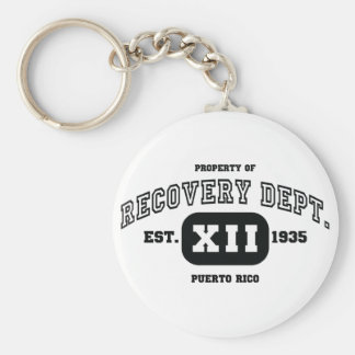 PUERTO RICO Recovery Basic Round Button Key Ring