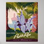 Puerto Rico Vintage Travel Poster Art Print