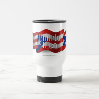 Puerto Rico Waving Flag Travel Mug