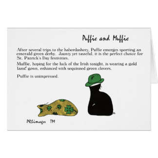 Puffie and Muffie St. Patrick's Day Card
