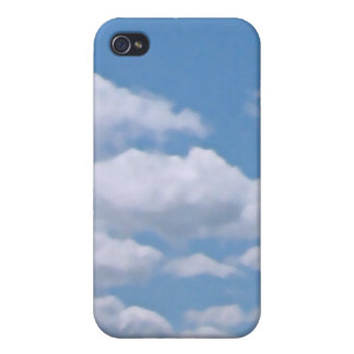 Puffy Clouds and Blue Sky iPhone 4/4S Cases