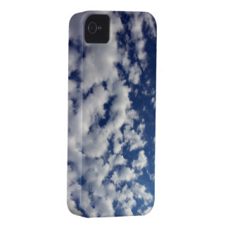 Puffy Clouds On Blue Sky iPhone 4 Case-Mate Case