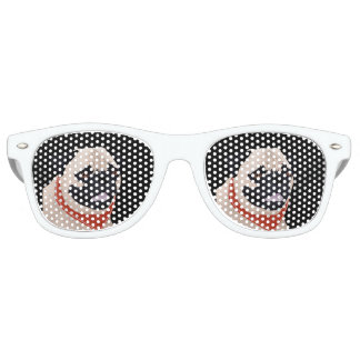 Pug Cartoon Retro Sunglasses