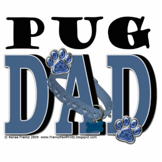 Pug DAD Standing Photo Sculpture