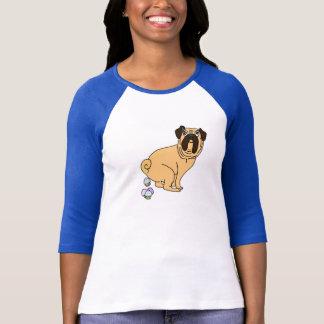 Pug Dog Pooping Cupcakes Shirt
