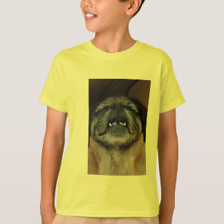 Pug Dog With Mouth Opened Kid's Shirt