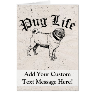 Pug Life Funny Dog Gangster Card