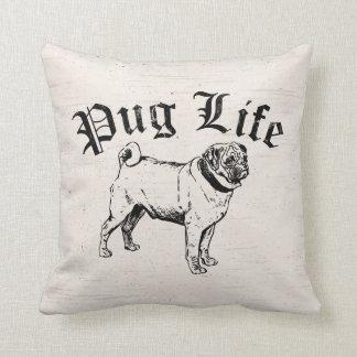 Pug Life Funny Dog Gangster Throw Pillow