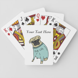 Pug Life - Funny Dog In A Sweater Playing Cards