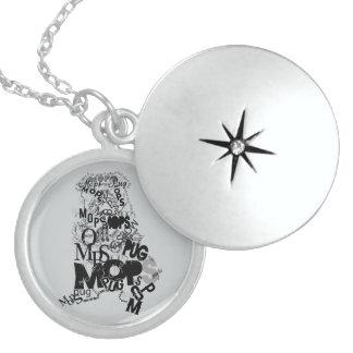 Pug Locket Necklace