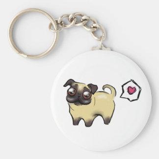 Pug Love Key Ring