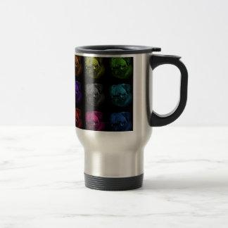 Pug Pop Art Stainless Steel Travel Mug