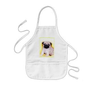 Pug puppy kids apron