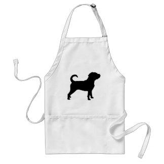 Puggle Dog Silhouette Standard Apron