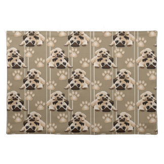 Pugs and Paws on Earth Tones Placemat