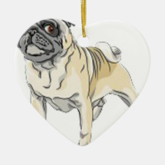 Pugs Christmas Ornament