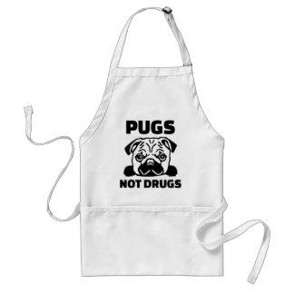 Pugs not drugs standard apron