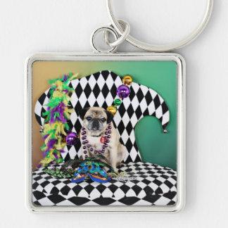 Pugsgiving Mardi Gras 2015 - Luigi - Pug Key Ring