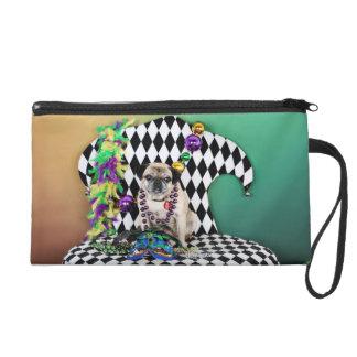 Pugsgiving Mardi Gras 2015 - Luigi - Pug Wristlet