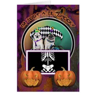 Pugsgiving Mardi Gras 2015 - Pippin Fugoh - Pugs Card