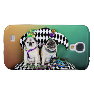Pugsgiving Mardi Gras 2015 - Pippin Fugoh - Pugs Galaxy S4 Case