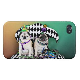 Pugsgiving Mardi Gras 2015 - Pippin Fugoh - Pugs iPhone 4 Cases