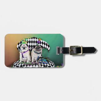 Pugsgiving Mardi Gras 2015 - Pippin Fugoh - Pugs Luggage Tag