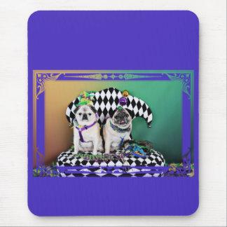 Pugsgiving Mardi Gras 2015 - Pippin Fugoh - Pugs Mouse Pad
