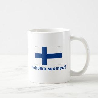 Puhutko Suomea? (Speak Finnish?) Classic White Coffee Mug