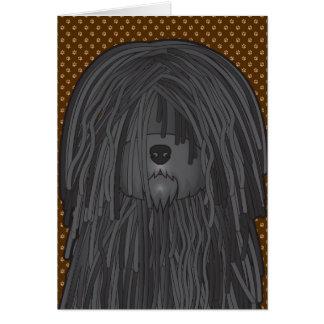 Puli Dog Cartoon Paws Card