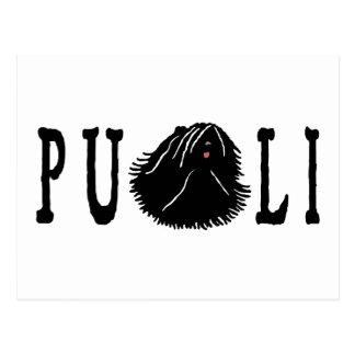 Puli Dog with Puli Text Postcard