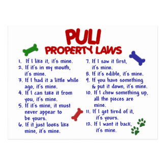 PULI Property Laws 2 Postcard